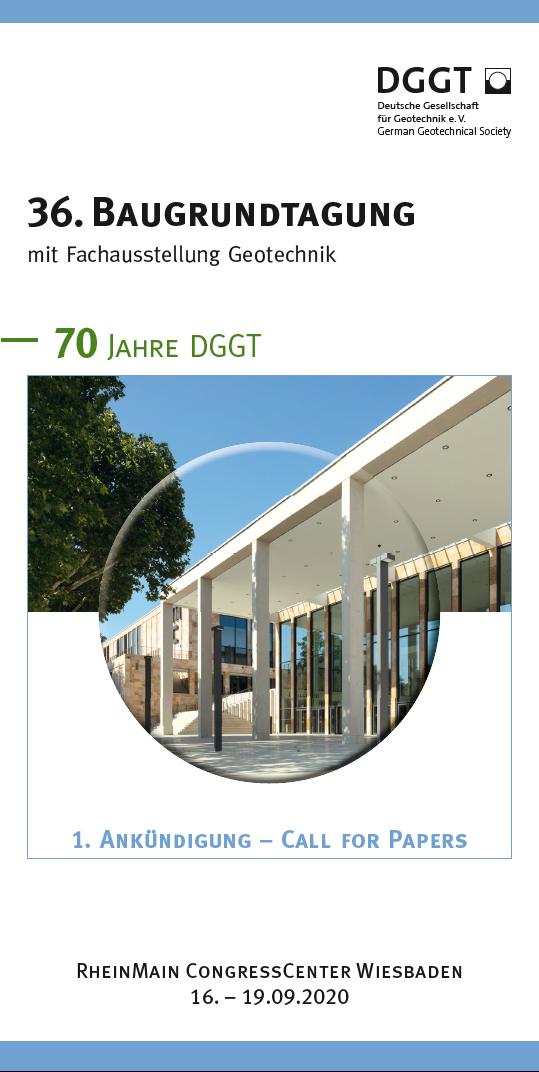 Baugrundtagung 2020 - Cover
